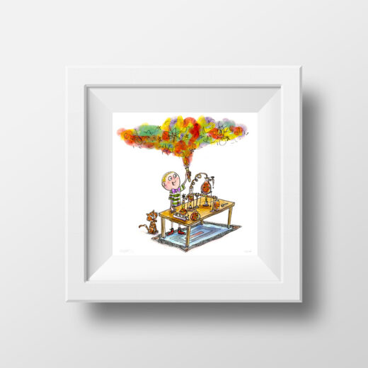 Framed print - mad scientist