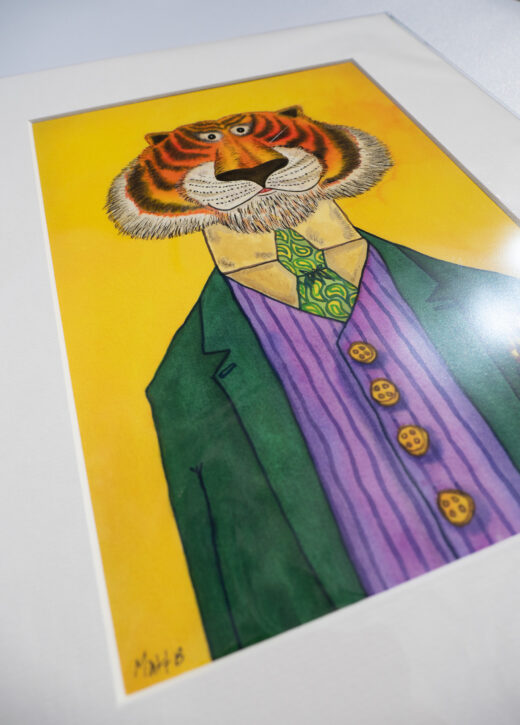 Eclectic Tiger Art Print