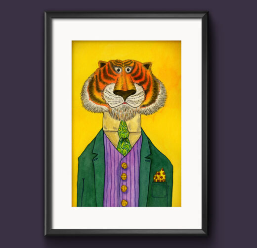 Tiger picture frame example