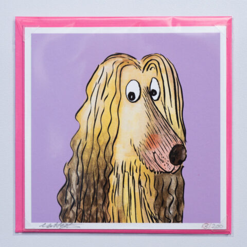 Afghan hound card by Matt buckingham
