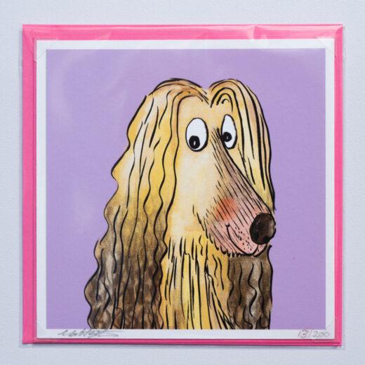 Afghan hound card by Matt buckingham