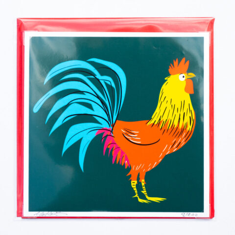 Cockerel card by matt buckingham