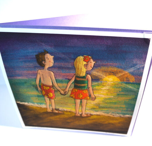 Lovers on the Beach Card