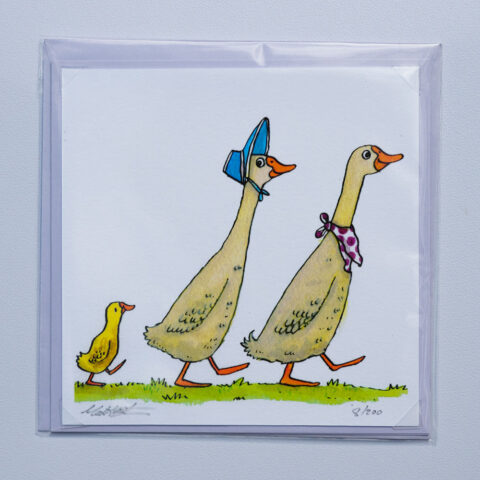 Ducks card by matt buckingham