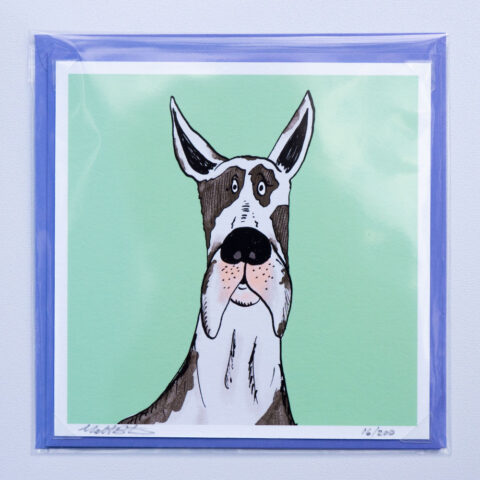 Great dane card by matt buckingham
