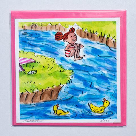 Jumping in card by matt buckingham