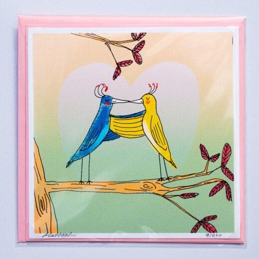 Love-birds card by Matt Buckingham