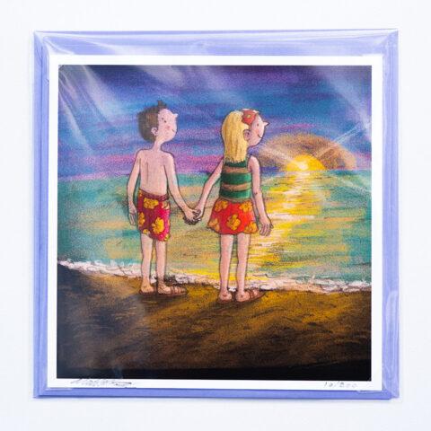 Sunset lovers card by Matt Buckingham