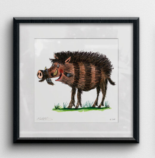 Warty pig framed example