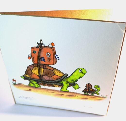 Tortoise themed card