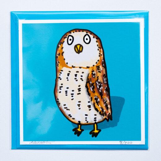 Owl card by matt buckingham