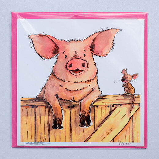Farm Pig Card by Matt Buckingham