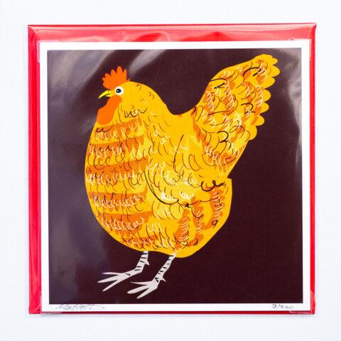 Red hen card by matt buckingham