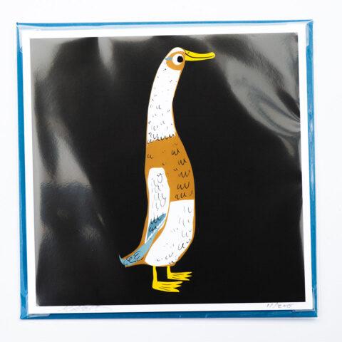 Runner duck card by matt buckingham