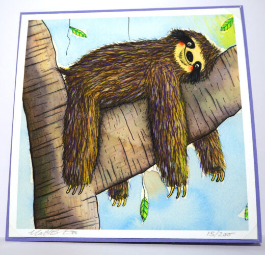 Sleepy Sloth Card