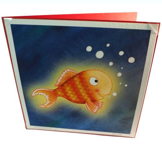 Fish themed birthday card