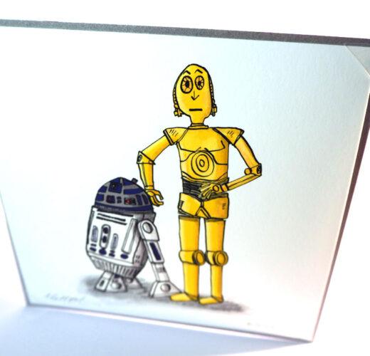 Star Wars style card