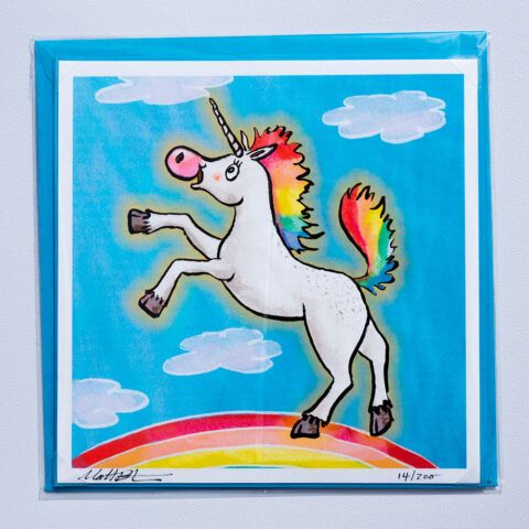 Rainbow Unicorn Card by Matt Buckingham