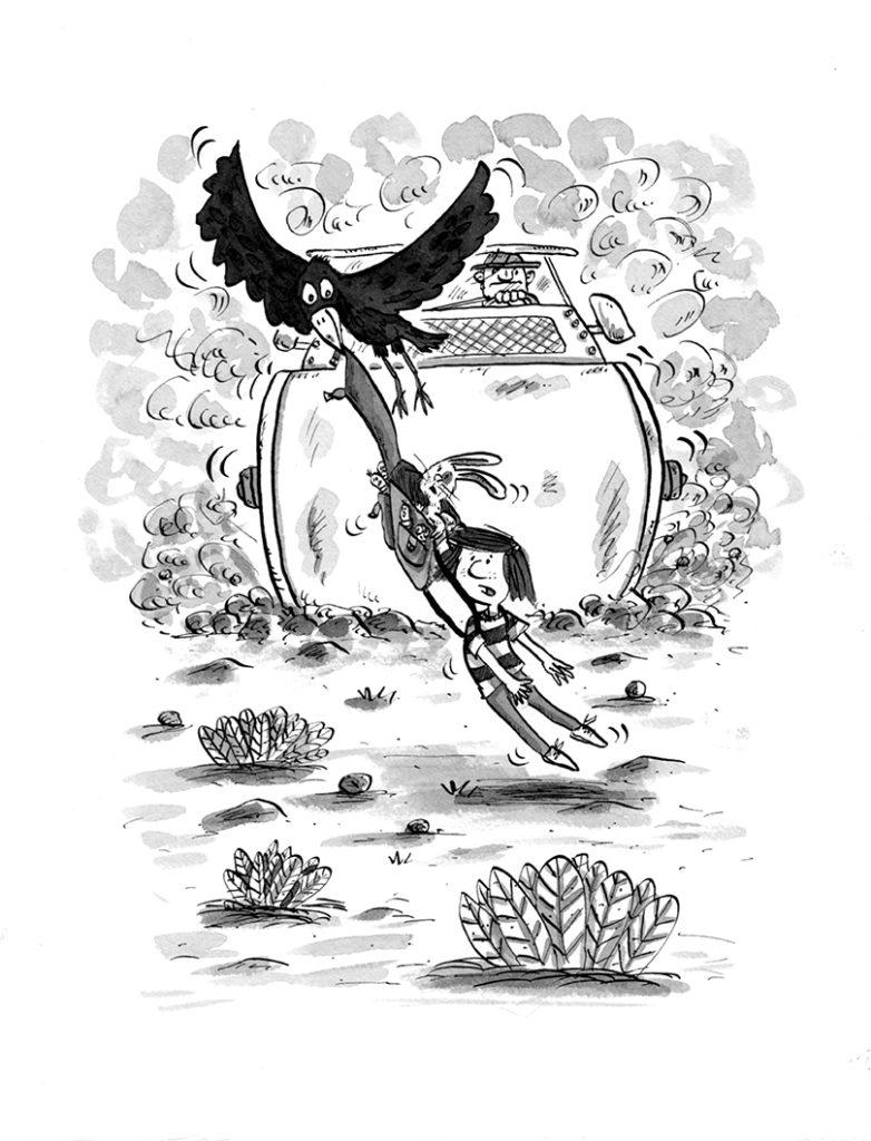Kristen and the crow by Matt Buckingham