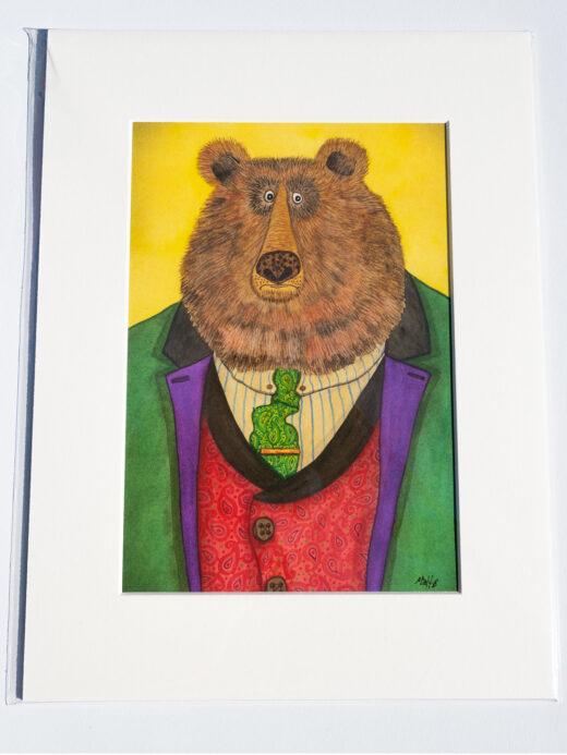 bear artist print by matt buckingham