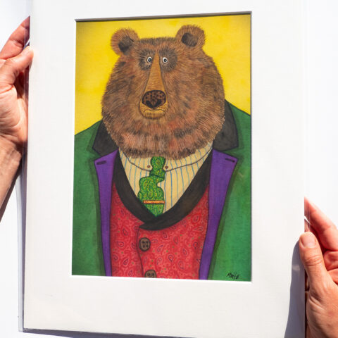 bear artist print by matt buckingham