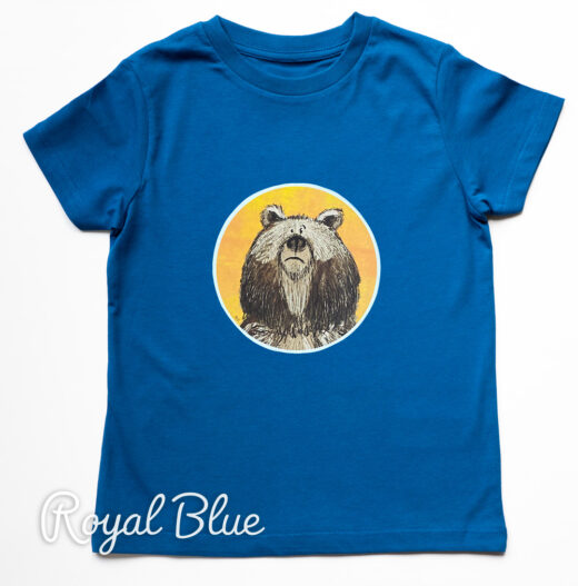 Kids Organic Bear T-shirt - Blue