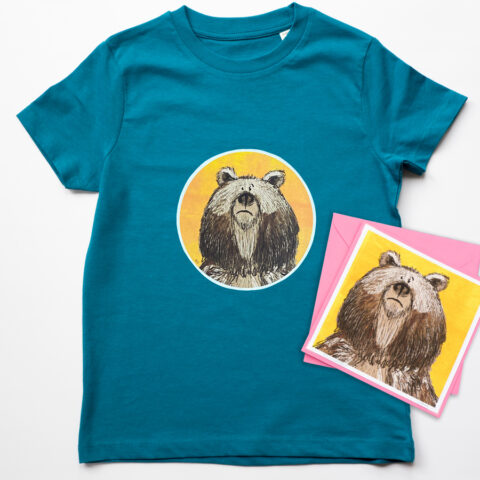 Organic Bear T-shirt and Card