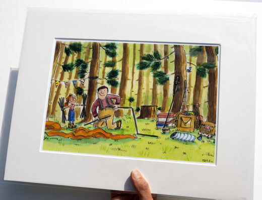 Camping with Dad Signed Print