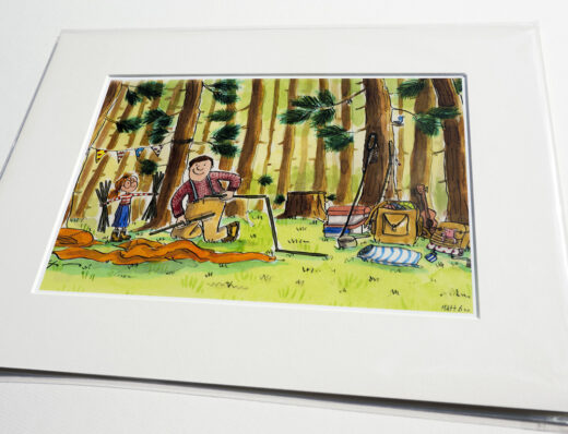 Camping themed art gift