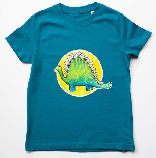 Kids Organic Dinosaur T-shirt