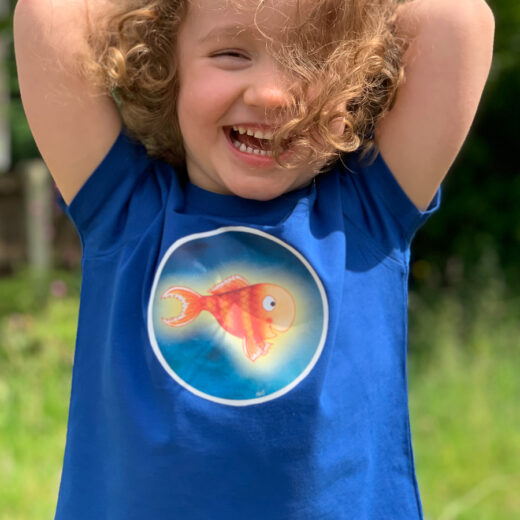 Kids Organic Fish t-shirt