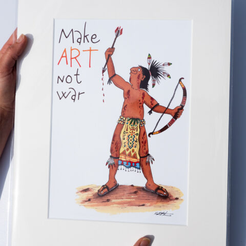 make art not war art print by matt buckingham