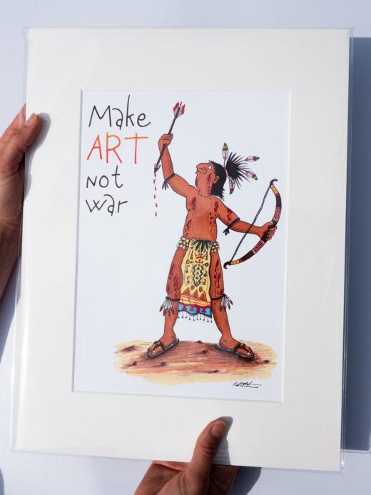 make art not war art print by matt buckingham