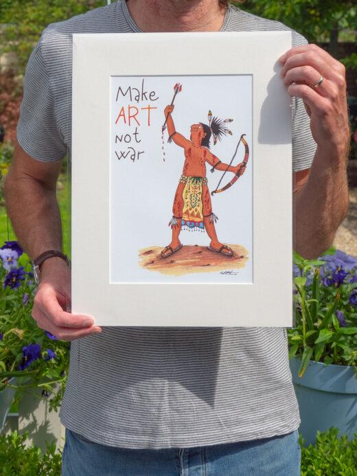 make art not war print by matt buckingham