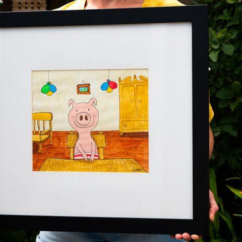 Pigs Party - original art work for sale by Matt Buckingham