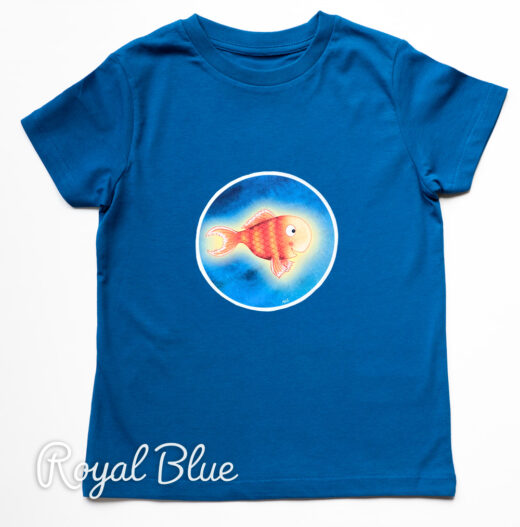 Organic T-shirt Bright Stanley - Blue