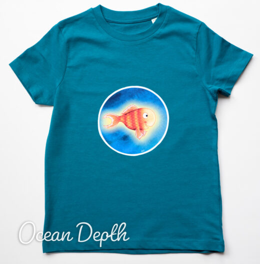 Organic T-shirt Bright Stanley - Ocean Depth