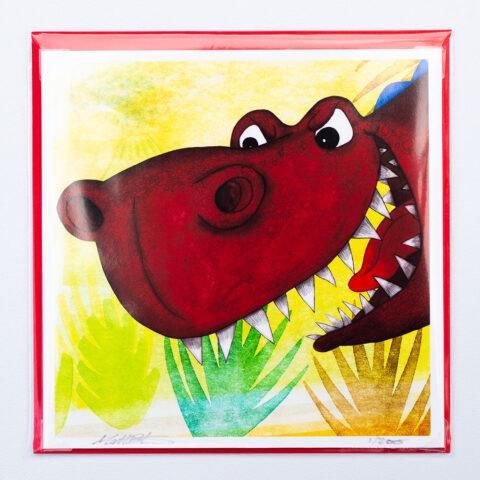 T-rex card by Matt Buckingham