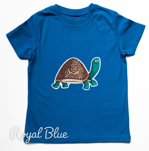 Organic Tortoise t-shirt - royal blue