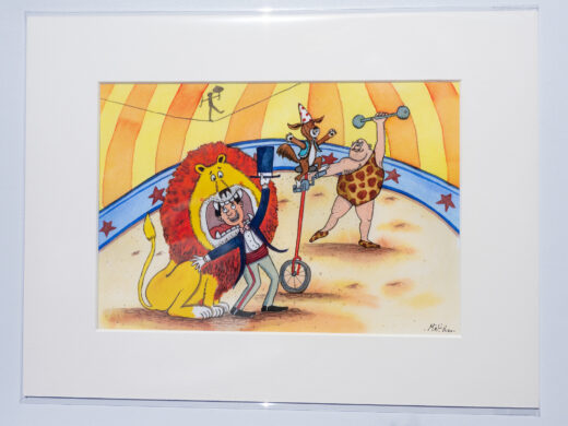 circus artist print by matt buckingham