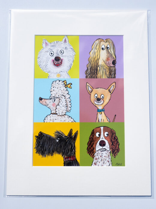 dogs artist print by matt buckingham