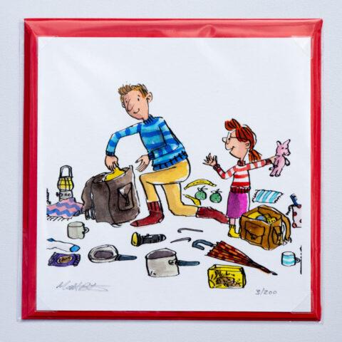 Camping Kid card by Matt Buckingham