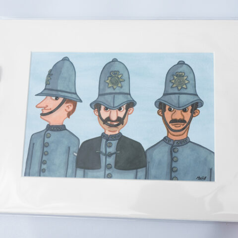 police bobbies artist print by matt buckingham