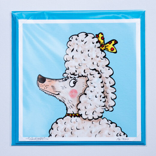 Poodle card by Matt Buckingham