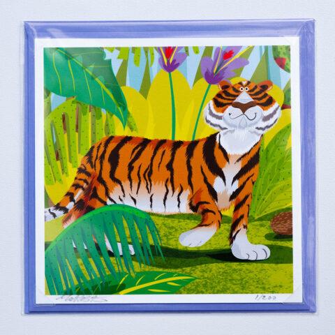 Tiger Jungle card by Matt Buckingham