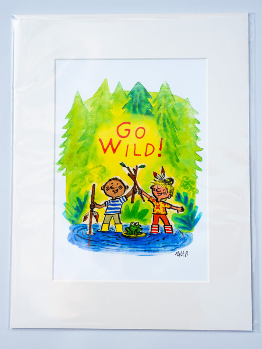 go wild artist print by Matt Buckingham