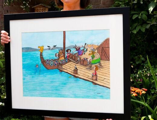 Viking Docks original artwork for sale by Matt Buckingham