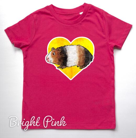 Guinea pig pink t-shirt