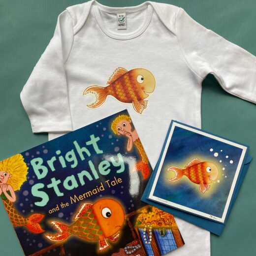 Organic Baby Romper and Book Gift Set