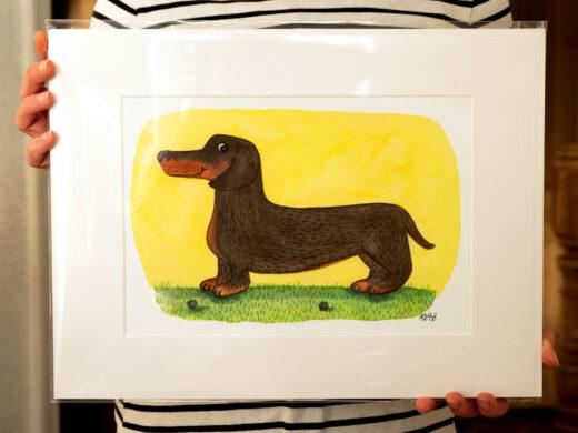 Dachshund artist print by Matt Buckingham